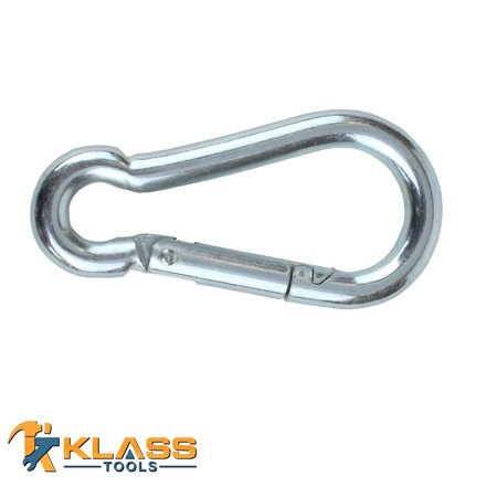 9 32 in Safety Spring Hook with an internal Length of 2 25 in 6 Hooks