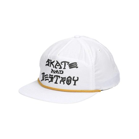 Skate and Destroy Puff Ink Snapback Hat (White), One size fits most By Thrasher](Thrasher Halloween)