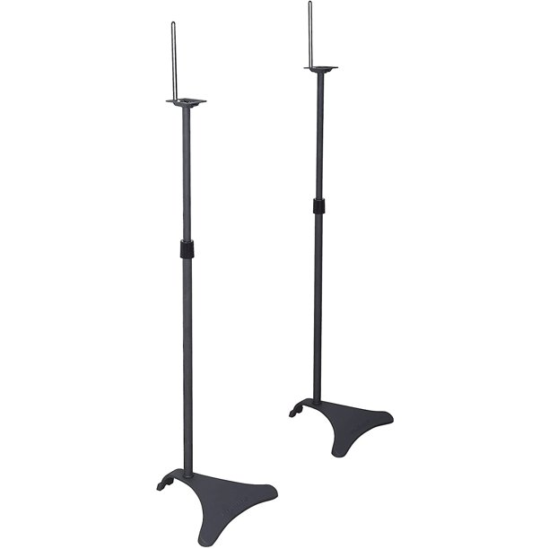 Atlantic Satellite Adjustable Height Speaker Stands 2 pack Black (77305018)