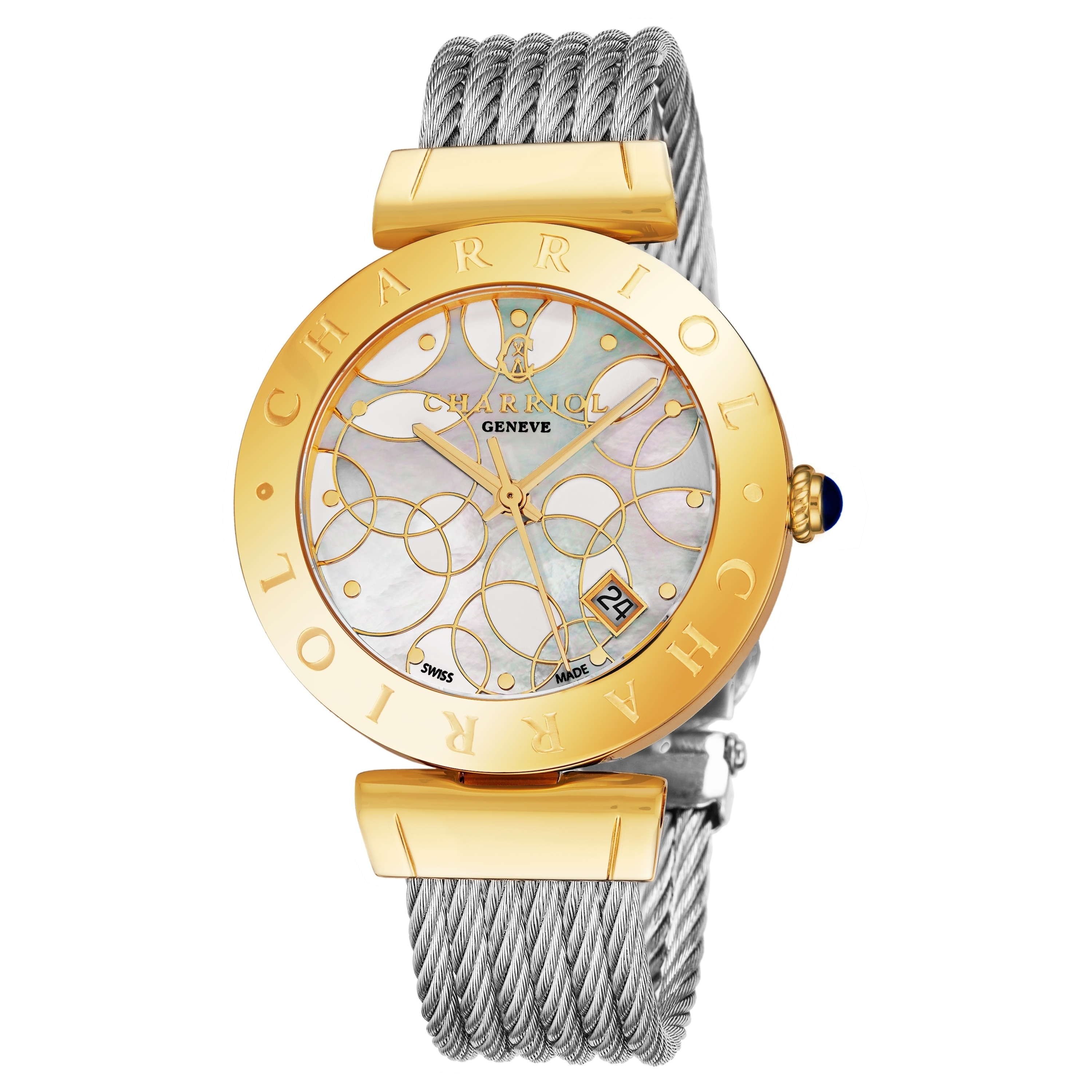 Amy Rose Sin Ropa women's amy.51.007 'alexandre c' mother of pearl bubble dial stainless  steel rose goldtone swiss quartz watch