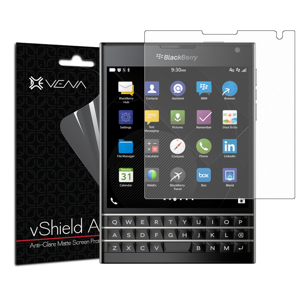 BlackBerry Passport Screen Protector - Vena vShield [Anti-Glare Matte] Anti-Scratch Shield (3 Pack)