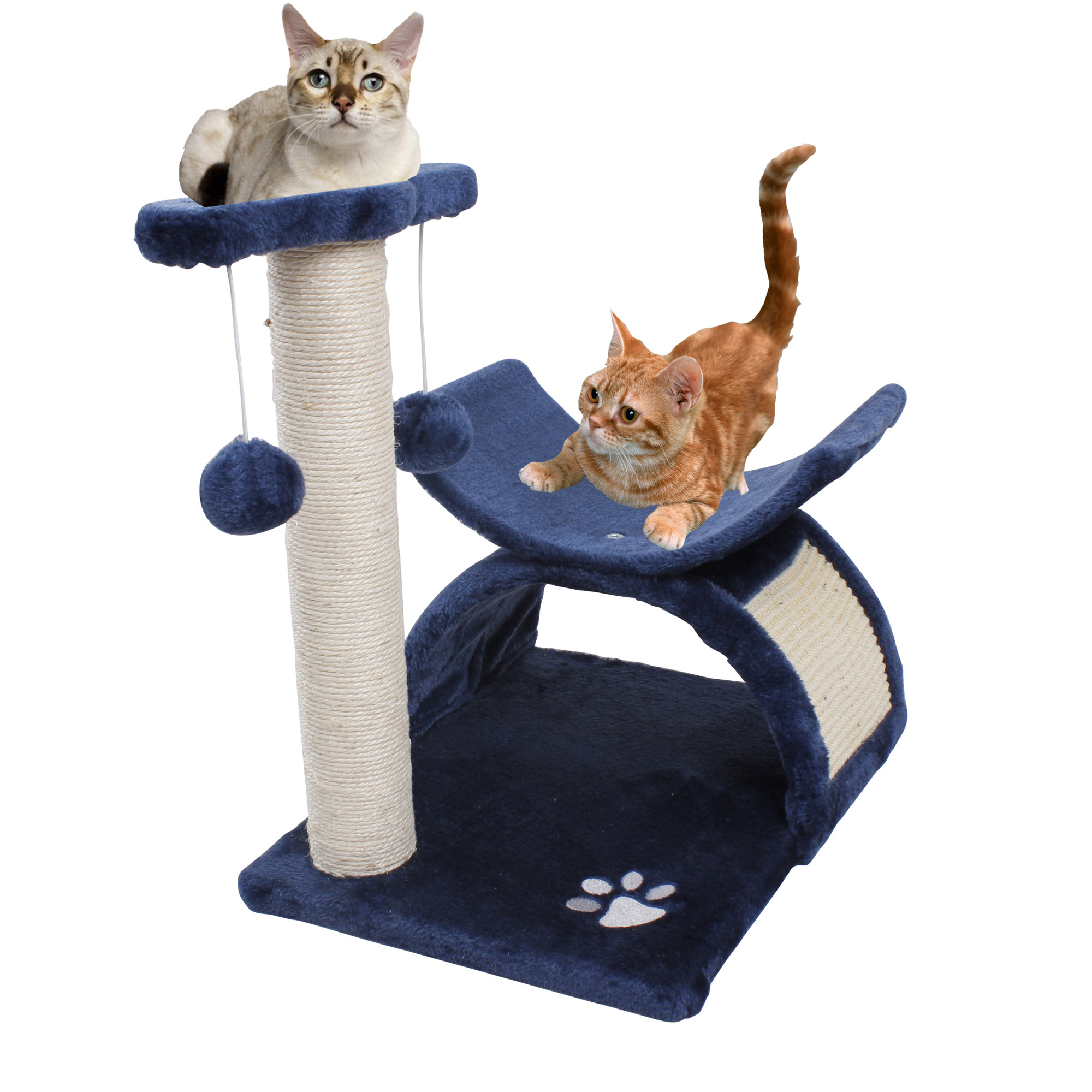 Andeworld Small Cat Tree Pet Condo Furniture Playhouse Navy Blue Total Height 17 7 Inch Com