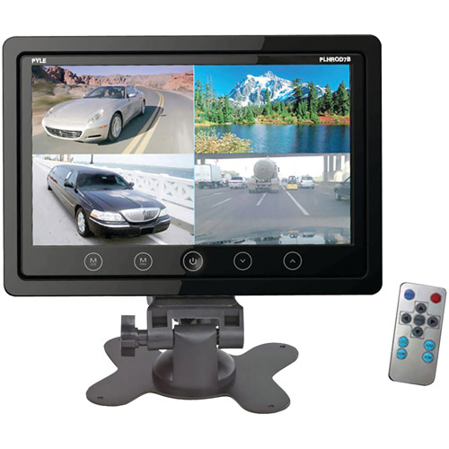 "Pyle 7"" Quad TFT/LCD Video Monitor with Headrest Shroud"