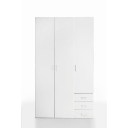 - Space 3 Drawer and 3 Door Wardrobe, Multiple Finishes