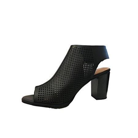 b912f00cc26 City Classified - Peep Toe Ankle Strap Sandal – Western Bootie Low  Stacked Heel Open Toe Cutout Velcro – Casual by J Adams - Walmart.com