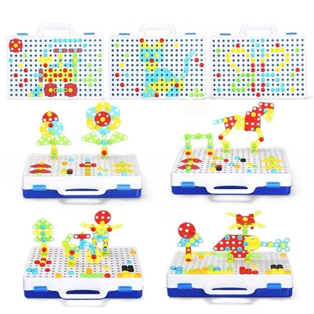 Children's Brain Development Building Block Games Set With Toy Drill&Toolset - image 5 of 6