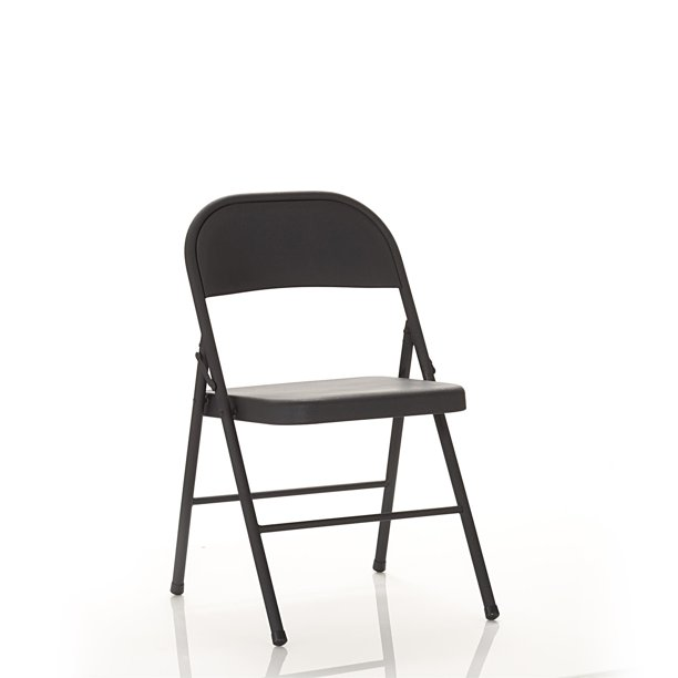 Mainstays Steel Folding Chair In Black 4 Pack