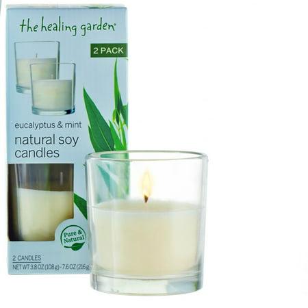 The Healing Garden Eucalyptus Mint Natural Soy Candles 38 Oz 2 Pack