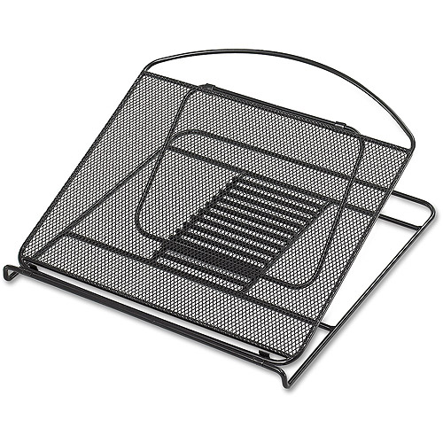 Safco Onyx Adjustable Steel Mesh Laptop Stand, 12 1/4 x 12 1/4 x 1, Black