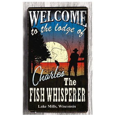 Personalized Metal Sign  Fish