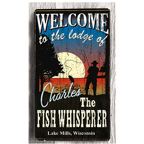 Personalized Metal Sign, Fish