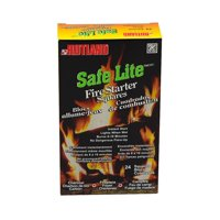 Safe Lite Fire Starter Squares, 24 squaresSafe Lite Fire Starter Squares are made of recycled wood chips and wax By Rutland Products