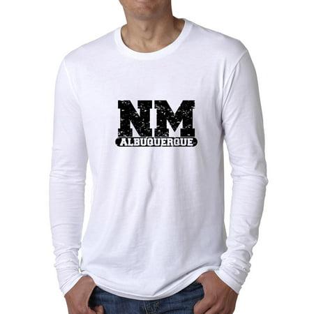 Party City Albuquerque Nm (Albuquerque, New Mexico NM Classic City State Sign Men's Long Sleeve)
