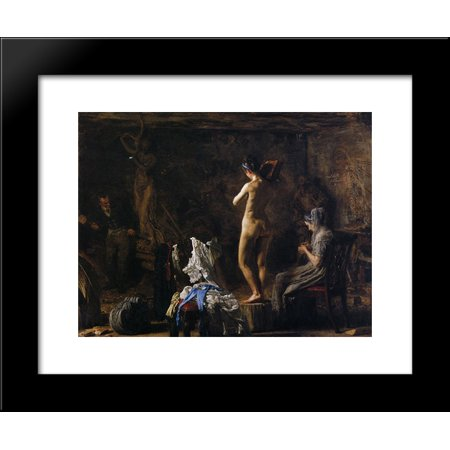William Rush Carving His Allegorical Figure of the Schuykill River 20x24 Framed Art Print by Thomas Eakins ()