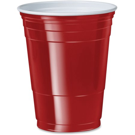 Coed Party (Solo, SCCP16R, Cup 16 oz. Plastic Cold Party Cups, 50 / Pack, Red, 16 fl)