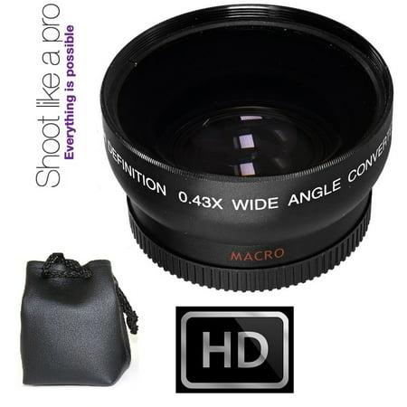 HD Wide Angle w/Macro Lens For Olympus Pen E-PL6 E-PL7 OM-D E-M5 E-M10 Mark II (37mm
