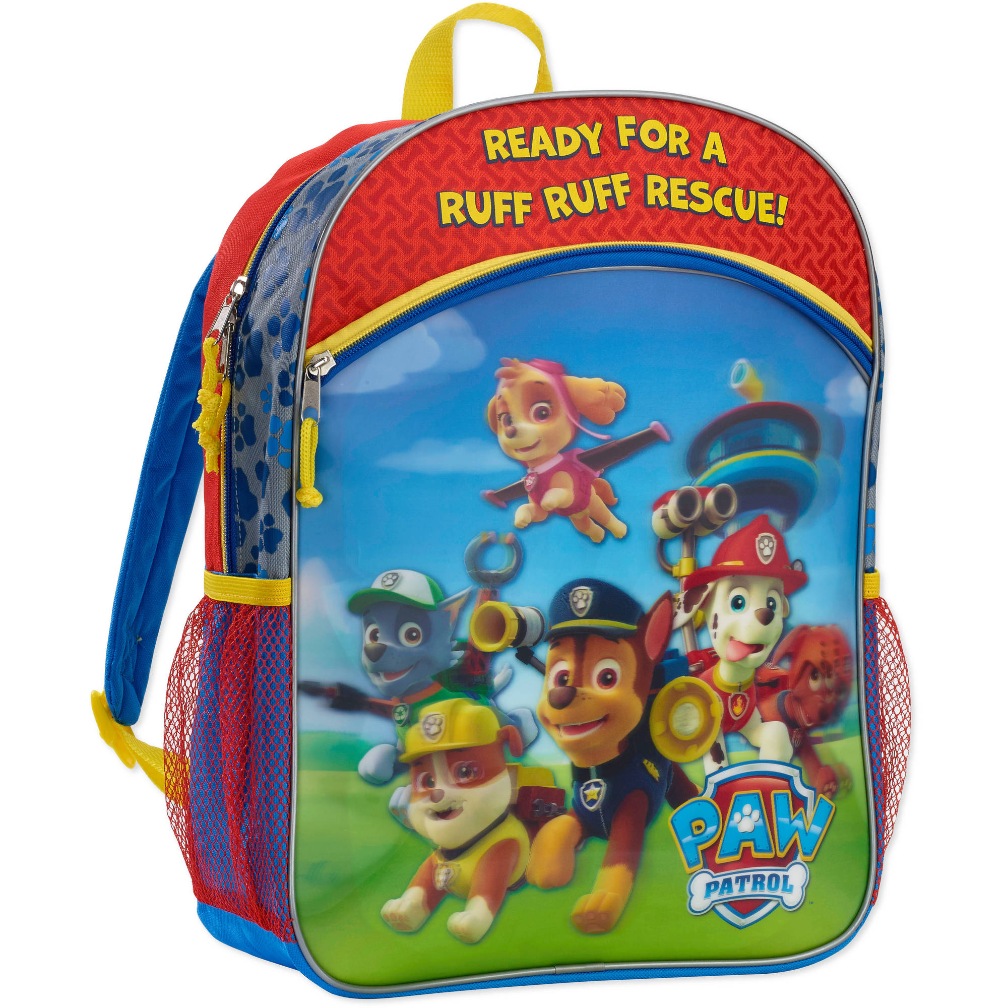 Nickelodeon 16'' Metallic and Lenticular Front Pocket Kids Backpack