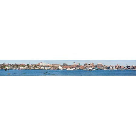 Panoramic View of Portland Harbor Boats with South Portland Skyline Portland Maine Poster Print, 44 x 6 - Party City South Portland
