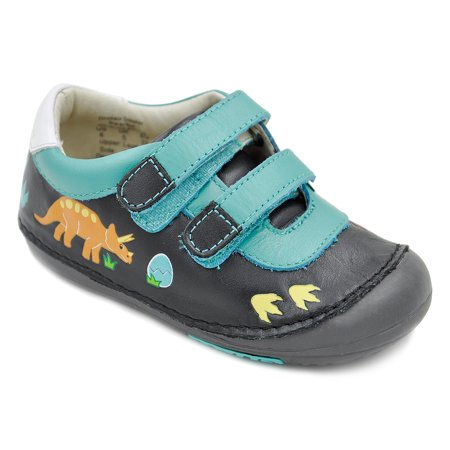 Momo Baby Boys First Walker Toddler Dinosaur Leather Sneaker