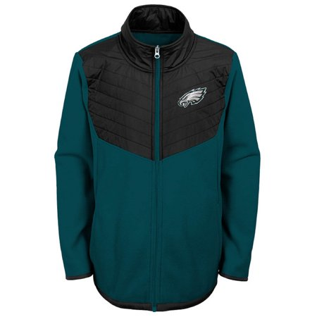Youth Midnight Green/Black Philadelphia Eagles Polar Full-Zip