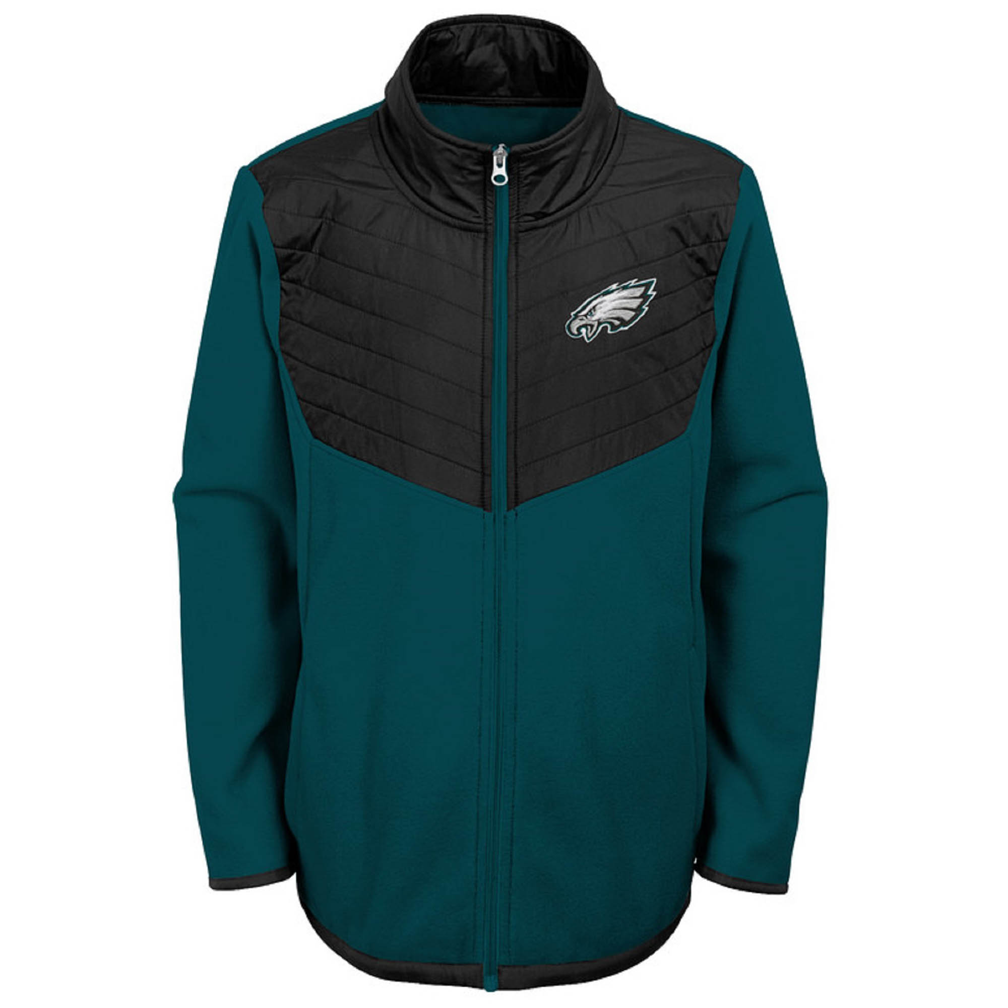 Youth Midnight Green/Black Philadelphia Eagles Polar Full-Zip Jacket