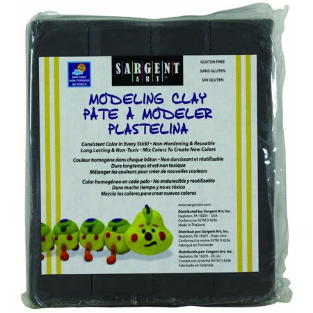 Gray Modeling Clay (Sargent Art Modeling Clay, Gray, 1-Pound)