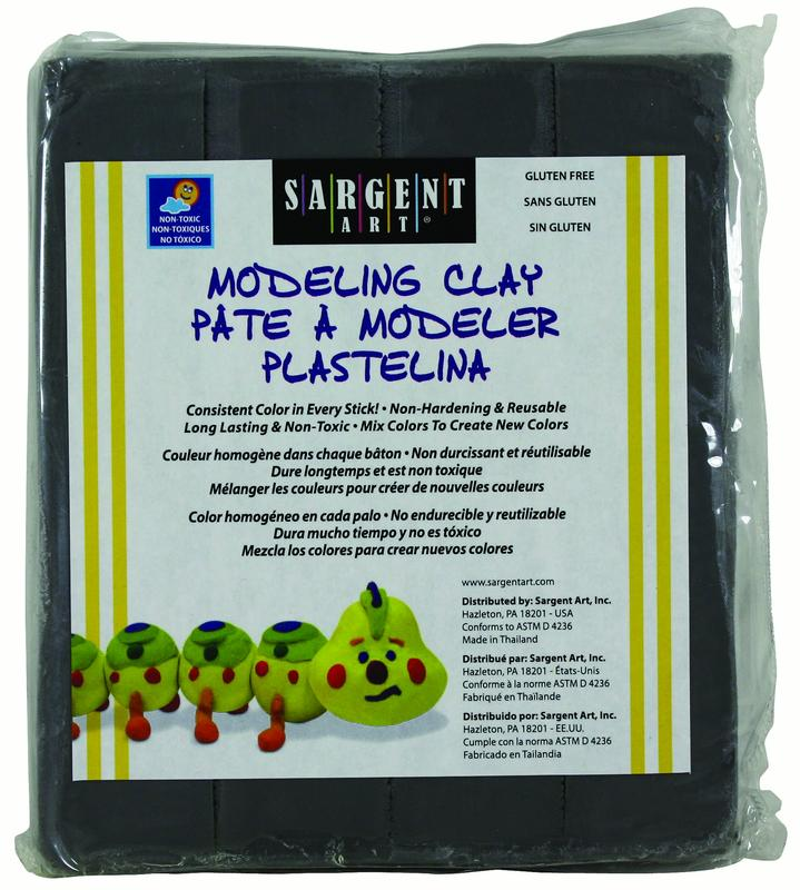 Sargent Art Modeling Clay, Gray, 1-Pound (22-4084)