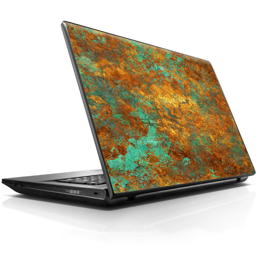 "Laptop Notebook Universal Skin Decal Fits 13.3"" to 15.6"" / Copper Patina Metal Panel"