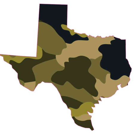 5x5 Camouflage Texas Sticker Car Bumper Decal Vinyl Cup Stickers Vehicle - Texas Square Bumper