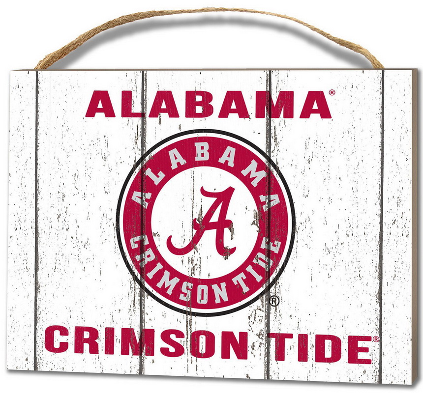 KH Sports Alabama Crimson Tide Small Plaque - Weathered Logo