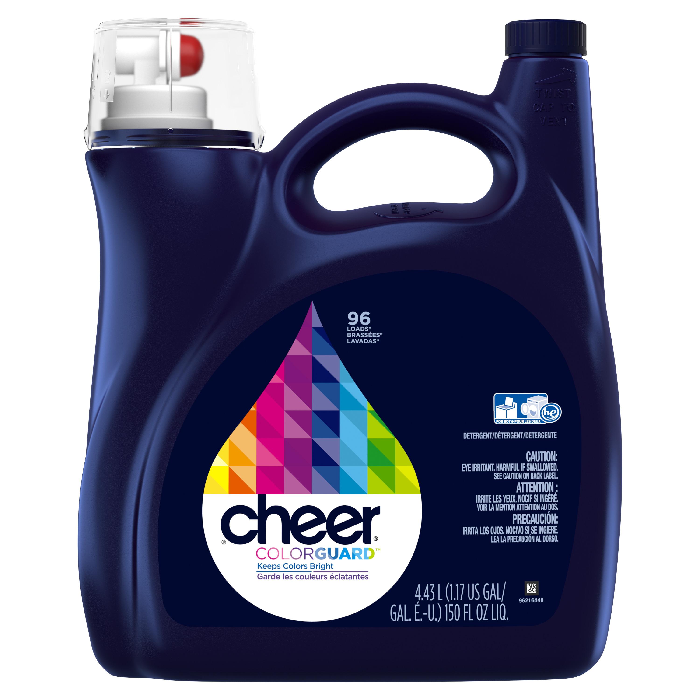 Cheer Colorguard Liquid Laundry Detergent, 96 Loads, 150 fl oz