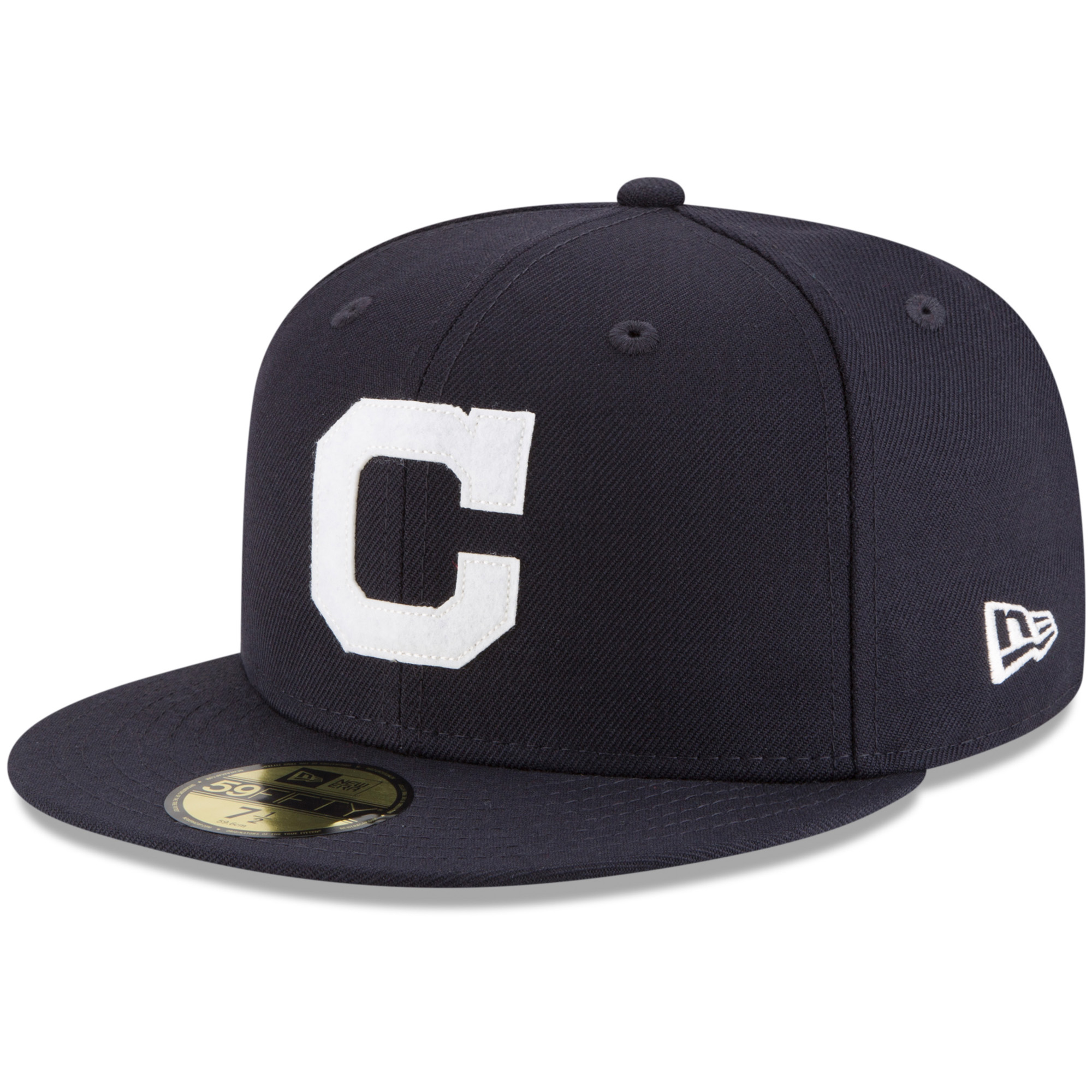 Cleveland Indians New Era Cooperstown Inaugural Season 59FIFTY Fitted Hat - Navy