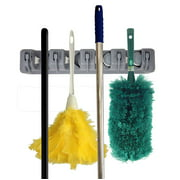 Premium Orangizer Mop and Broom Holder Wall Mounted Garden Tool Storage Tool Rack Storage & Organization Home Plastic Hanger Closet Garage Organizer Shed Basement Storage Must Have
