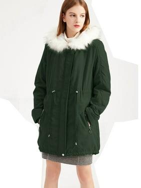 Womens Faux Fur LED Light Coat Jacket Christmas Party Parka Tops Outwear S-3XL