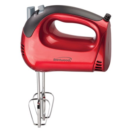 Hand Mixer Whisk, Red 5-speed Electric Small Beater Portable Hand Mixer