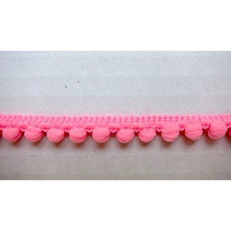 Ball Fringe Trim - Pink Mini Pom Pom Fringe Very Small Pompom Ball Trim 3/8 inch W - 6 yards - Sewing Supplies