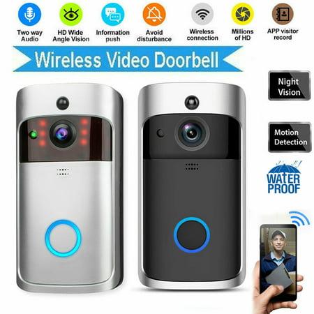 Smart Video Wireless WiFi Camera Doorbell IR Visual Camera Record Security System Kit (B/w Video Doorbell)