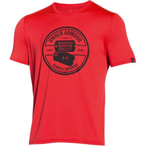Under Armour 1271864 Men's Red WWP Dog Tag Short Sleeve T...