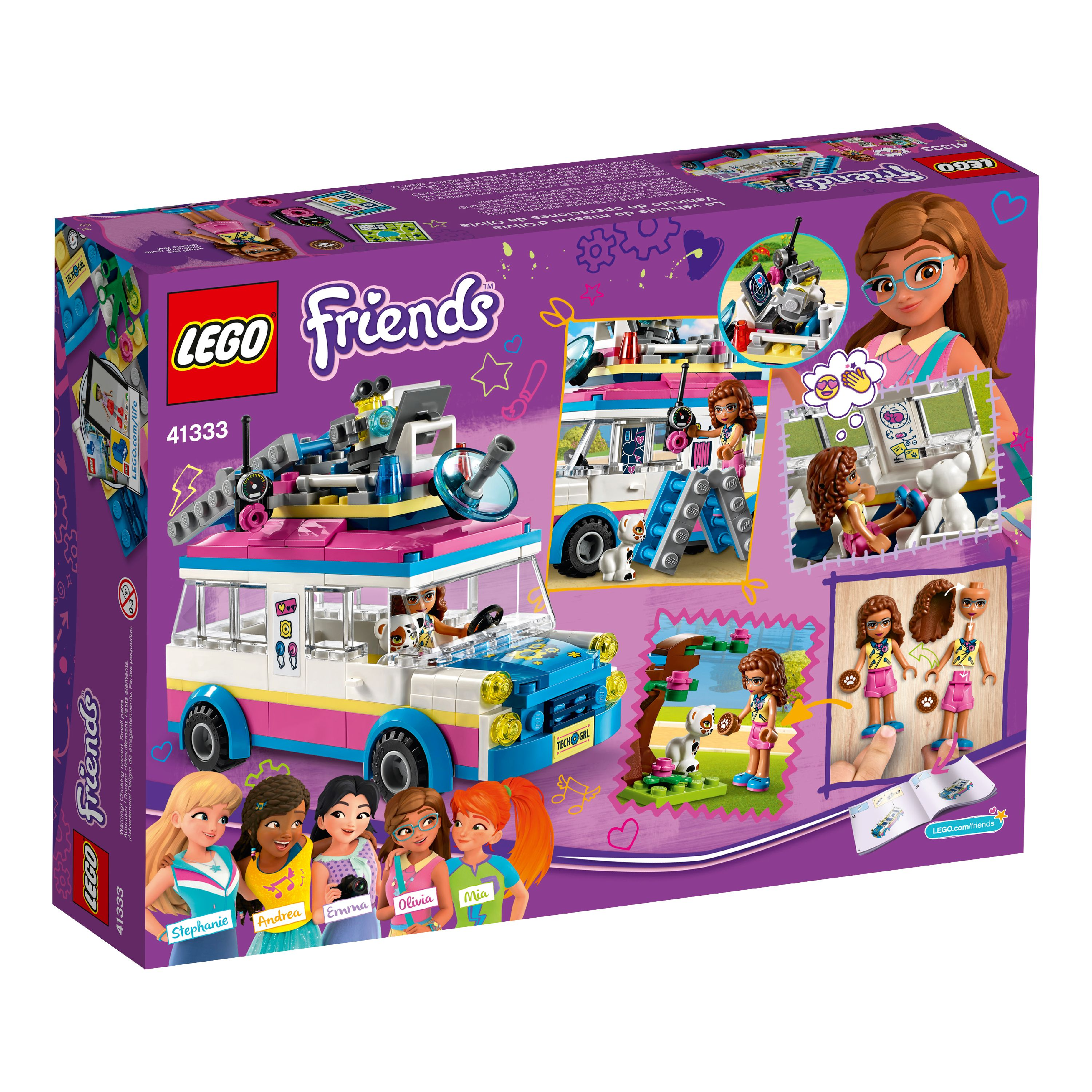 LEGO Friends Olivia's Mission Vehicle 41333 Building Set Toy Truck For Girl Gift