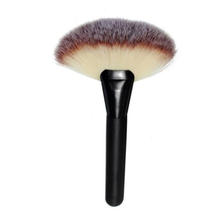 Mosunx Makeup Large Fan Goat Hair Blush Face Powder Foundation Cosmetic Brush