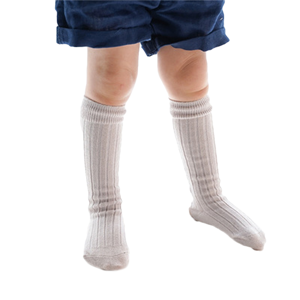 6 Pairs Little Girls Cable Knit Cotton Stockings Toddler Knee High Socks