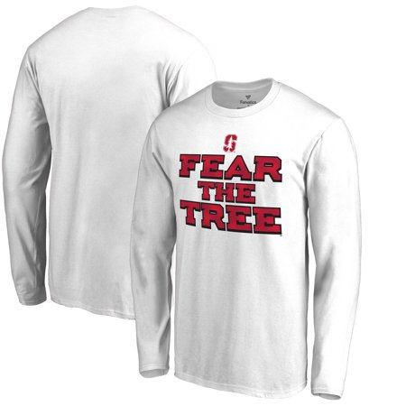 Stanford Cardinal Fanatics Branded Hometown Collection Fear the Tree Long Sleeve T-Shirt - White