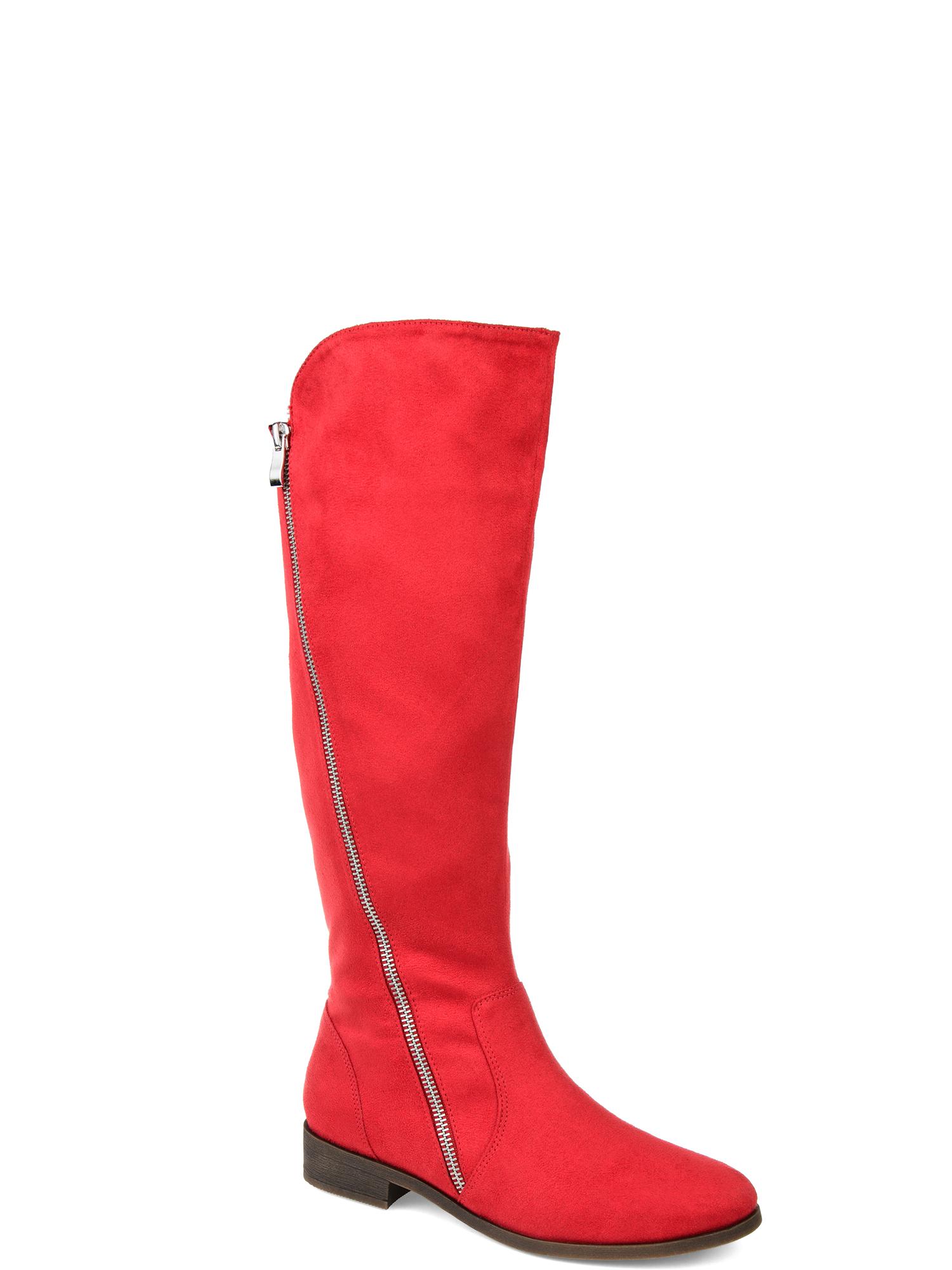 ee64922f0c6e Brinley Co. Womens Comfort Wide Calf Faux Suede Riding Boot - Walmart.com