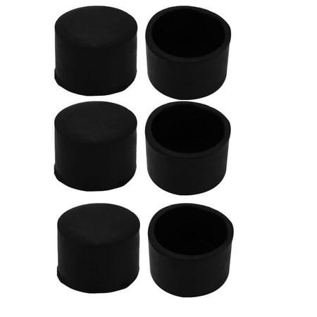 Chair Feet Covers (6Pcs Chair Leg Caps Rubber Floor Protector Furniture Feet Covers 32mm Inner)