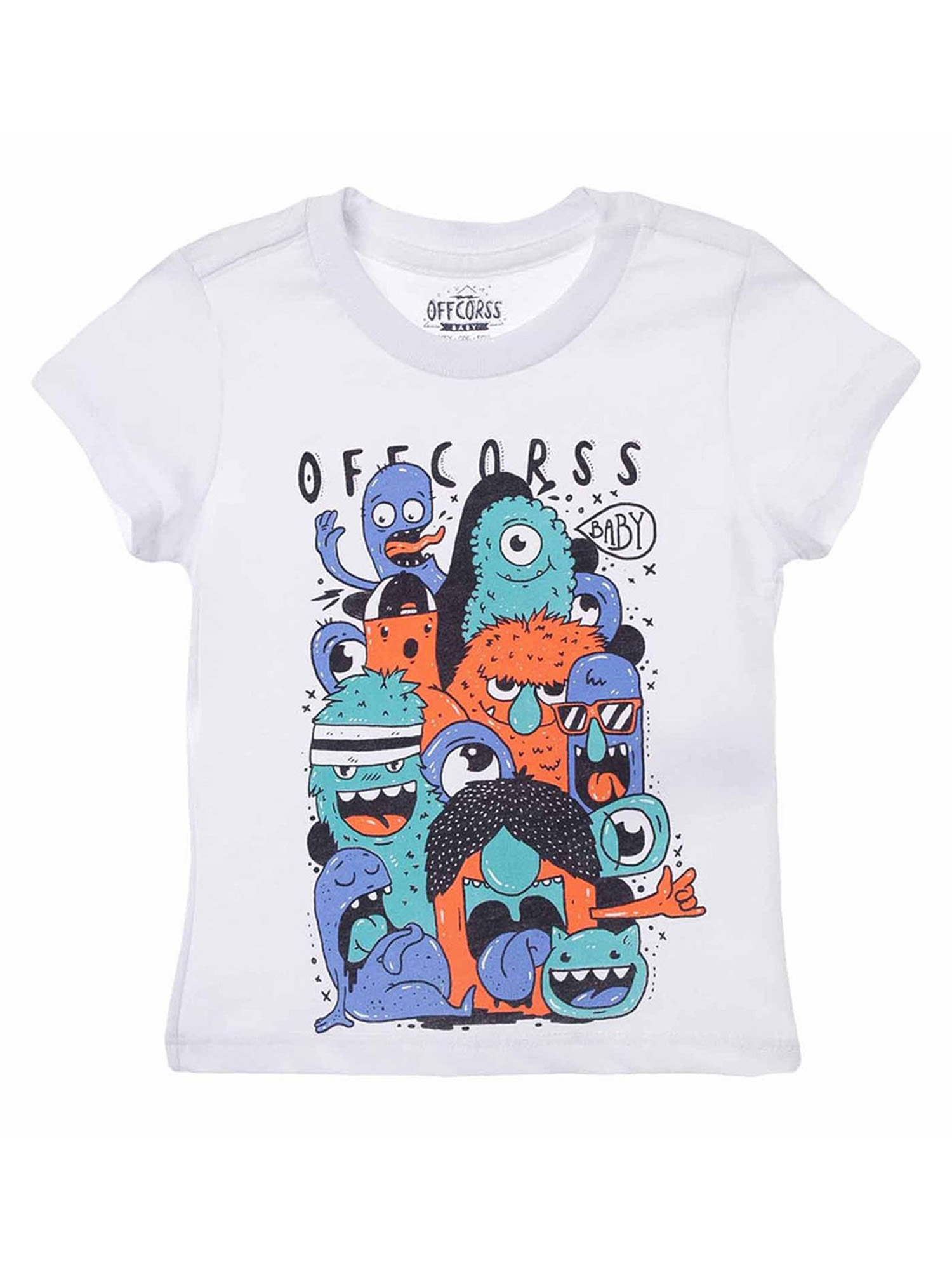 OFFCORSS Toddler Boy Colored Short Sleeve Tshirt For Kids Franelas Para Niños