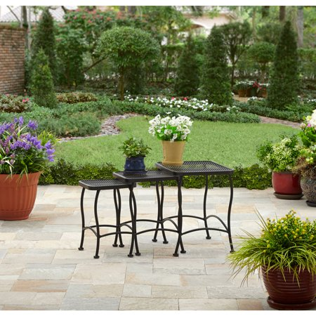 Better Homes and Gardens Seacliff Wrought Iron Nesting Side (Wrought Iron Coffee Table Base)