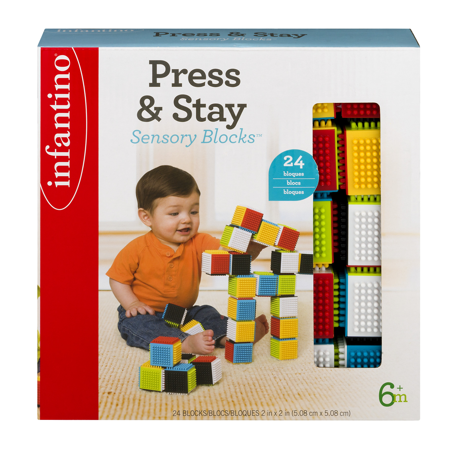 Infantino Press & Stay Sensory Blocks 6+m - 24 CT24.0 CT