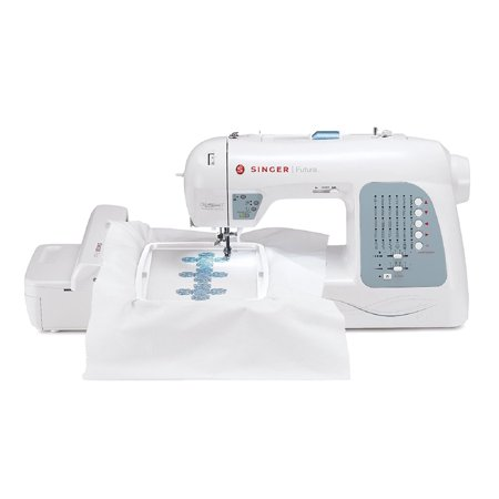 Singer XL-400 Futura Sewing and Embroidery Machine with 125 Embroidery Designs and 30 Built-in (Singer Futura Support)