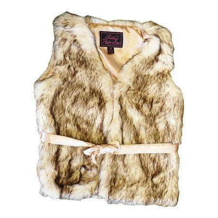 Girls Crystal Fox Faux Fur Vest 7-12](Girls Fur Vest)
