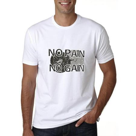 Weight Lifting No Pain No Gain Exercise Training Men's